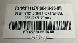 Protrax Complet Rim Roue Avant 21x1.60 Hub Rouge Honda Cr125 Cr250 Crf250r