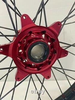 Roues Motocross À Gaz Rims Noir Rouge Complet 18/21 125 250 450 Husky Ktm