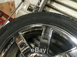 Set Cadillac Escalade Oem Avant Arrière Rim Roues Et Des Pneus Chrome 22 Pouces 22 07-14