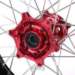 Supermoto Complete Wheel Rims 173.5 4.25 Pour Honda Cr125 250r Crf250 450r 14-18