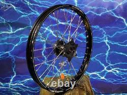 Suzuki Complete Front Wheel Excel Black Rim Oem A60 Billet Hub Assembly 125-450