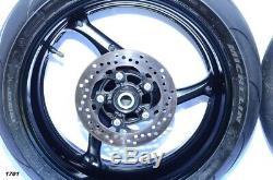 Suzuki Gsxr 600 750 Oem Complet Roues Avant Et Arrière, Jantes, Rotors Et Moyeux