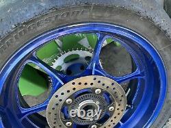 Suzuki Gsxr1000 L7 L9 Wheels Rims 2017 2020 Complet Avec Disques De Frein Bleu