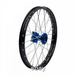Tusk Impact Complete Wheel Front 19 X 1.40 Black Rim/silver Spoke/blue Hub