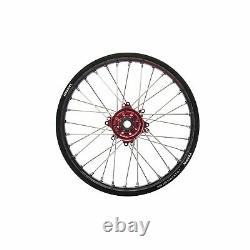 Tusk Impact Complete Wheel Rear 18 X 2.15 Black Rim/silver Spoke/red Hub