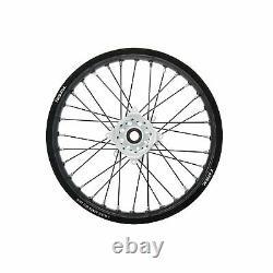 Tusk Impact Complete Wheel Rear 18 X 2.15 Jante Noire/black Spoke/white Hub