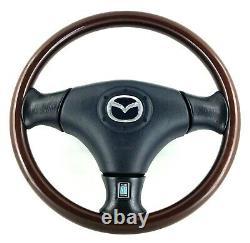 Véritable Mazda Mx-5 Mk2 Nardi Volant Jante En Bois Foncé, Complet. Nb. 16c