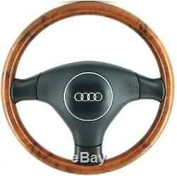Volant De Jante En Bois D'origine Audi Complet. A3 A4 A6 A8 Ligne S Tdi Etc. 15a