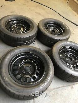 Weller Formula Ford Wheels Ensemble Complet De 4 Avec Avon Acb10 7-22-13