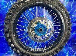 Yamaha Black Wheel Set Rim Complete Billet Hub Front Rear Assembly 125-450