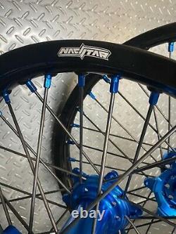 Yamaha Yz250f Yz450f Motocross Roues Jantes Noir Bleu Complet 19/21 Yz250 Yz125