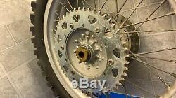 Yamaha Yz450f 2001 2008 Yz250 Yz 250 450f Complet Roue Arrière Des Pneus Hub Rim